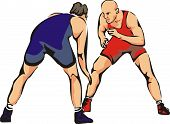 fight wrestling - contact sports