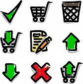 Web icons marker colour contour shop