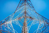 Low Angle View Of Telecommunication Tower., Technology poster