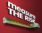Measure the Risk Measuring Tape Liability Impact 3d Illustration poster