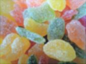 Blurred Shot Of Caramel Candy`s, Abstract Colored Background. Blurred Candy Background.motion Blur O poster