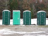stock photo of porta-potties  - porta potty - JPG