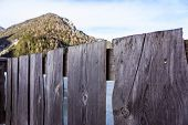 Wood Fence Perspective View . Wood Fence Perspective View . poster
