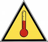Thermometer Caution Sign