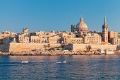 Valletta, Malta. Coastal Landscape Of The Maltese Capital City At Sunny Summer Day poster