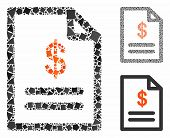 Invoice Mosaic Of Abrupt Items In Various Sizes And Color Tones, Based On Invoice Icon. Vector Tremb poster