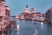 Grand Canal And The Basilica Of St Mary Of Health Or Santa Maria Della Salute At Sunset In Venice, I poster