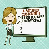 Text Sign Showing A Satisfied Customer Is The Be. Conceptual Photo A Satisfied Customer Is The Best  poster