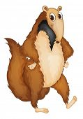 image of ant-eater  - Illustration of a comical anteater - JPG