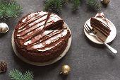 Chocolate Christmas Cake poster