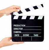 stock photo of clapper board  - Movie clapperboard  - JPG
