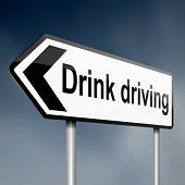 stock photo of blood drive  - illustration depicting a sign post with directional arrow containing a drink driving concept - JPG