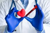 Laboratory Medical Diagnostics, Tests For Heart And Cardiovascular Concept Photo. Doctor Or Laborato poster