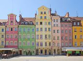 market square in old town of Wroclaw