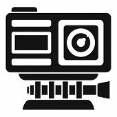 Adventure Action Camera Icon. Simple Illustration Of Adventure Action Camera Vector Icon For Web Des poster