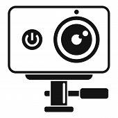 Dynamic Action Camera Icon. Simple Illustration Of Dynamic Action Camera Vector Icon For Web Design  poster