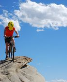 Biker Atop The Mountain