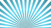 Sun Rays Background. Blue Radiate Sun Beam Burst Effect. Sunbeam Light Flash Boom. Template Starburs poster
