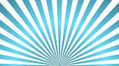 Sun Rays Background. Blue Radiate Sun Beam Burst Effect. Sunbeam Light Flash Boom. Template Starburs poster