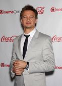 LAS VEGAS - APR 26:  JEREMY RENNER arrives afor the Cinema Con 2012-Final Night Awards  on April 26,