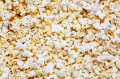 Fresh Tasty Salty Popcorn As A Food Background Or Texture. poster