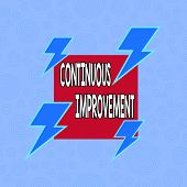 Conceptual Hand Writing Showing Continuous Improvement. Business Photo Text Ongoing Effort To Improv poster