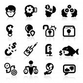 Business concepts icons set