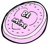 dibujos animados San Valentín calcáreo corazón dulce
