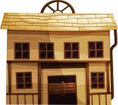 Abbildung von einem isolierten Gebäude aus der Wild-West-Eps Vektor Format auch in mein Por erhältlich
