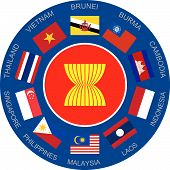 Flags Of Asean