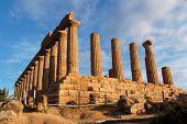 Templo de Hera (Juno) em Agrigento, Sicília Itália