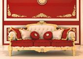 Luxury Sofa In Royal Interior
