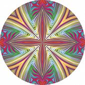 Round orchid vector pattern