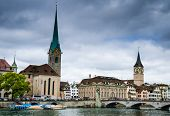 Zurich, Fraumunster Church, Switzerland