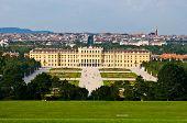 stock photo of schoenbrunn  - view of the palace Schoenbrunn in Vienna - JPG