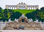 pic of schoenbrunn  - view of the Gloriette of the park Schoenbrunn in Vienna - JPG