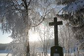foto of divine mercy  - Winter in the Black Forest in Germany - JPG