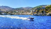 image of hydra  - A view of the beautiful Greek island Hydra - JPG