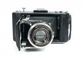 foto of mm  - Old vintage camera with mech white isolated - JPG