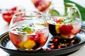 stock photo of sangria  - Mango with strawberry - JPG