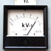 Old Style Voltmeter Gauge