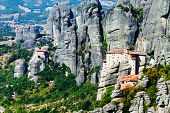 Meteora Monasteries, Greece, Horizontal Shot