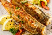 picture of plate fish food  - Fish dish  - JPG