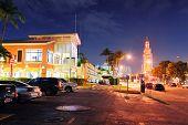 MIAMI, FL - FEB 7: Bayside Marketplace at night on February 7, 2012 in Miami, Florida. It is a festi