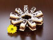 Capas de bizcocho de Chocolate