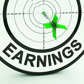 Earnings Shows Money From Employment Profit Income