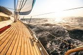 stock photo of sails  - Yacht - JPG