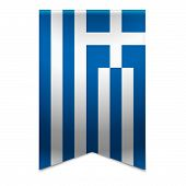 Ribbon Banner - Greek Flag
