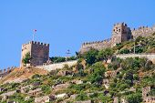 Fortress tower in Alanya