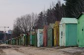 Metal garages in Vilnius, Lithuania
